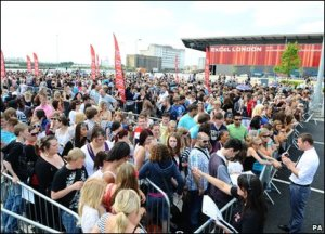 Queues for X Factor London auditions