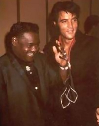 Elvis with Fats Domino
