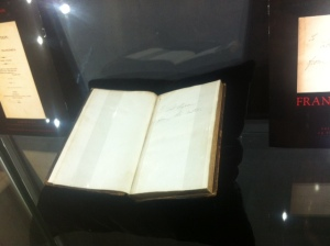 Byron's copy of Frankenstein