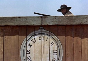 Clock face in Once Upon a Time in the West