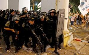 Brazil riot police