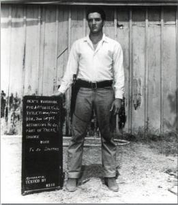 Elvis on the set of Flaming Star