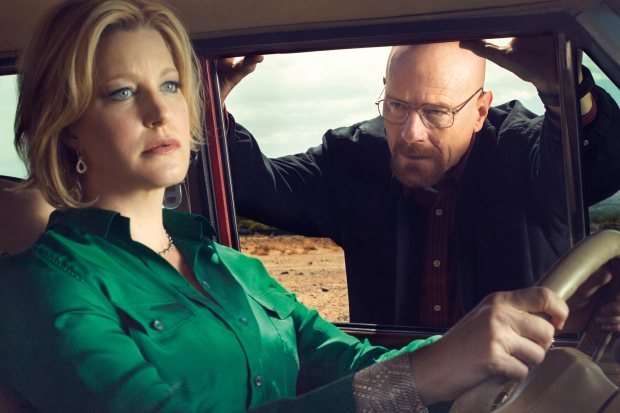 Breaking Bad Anna Gunn, Bryan Cranston  CR: Ben Leuner/AMC